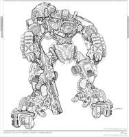 transformers hound ::: lineart by johngiang
