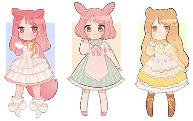 [2/3 OPEN] CHIBI ADOPTABLE AUCTION by NatsuGumiArt