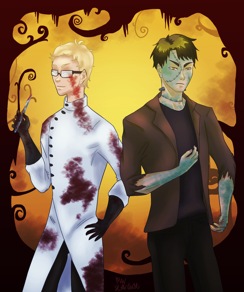 The crazy scientist and his creation by MayStardust