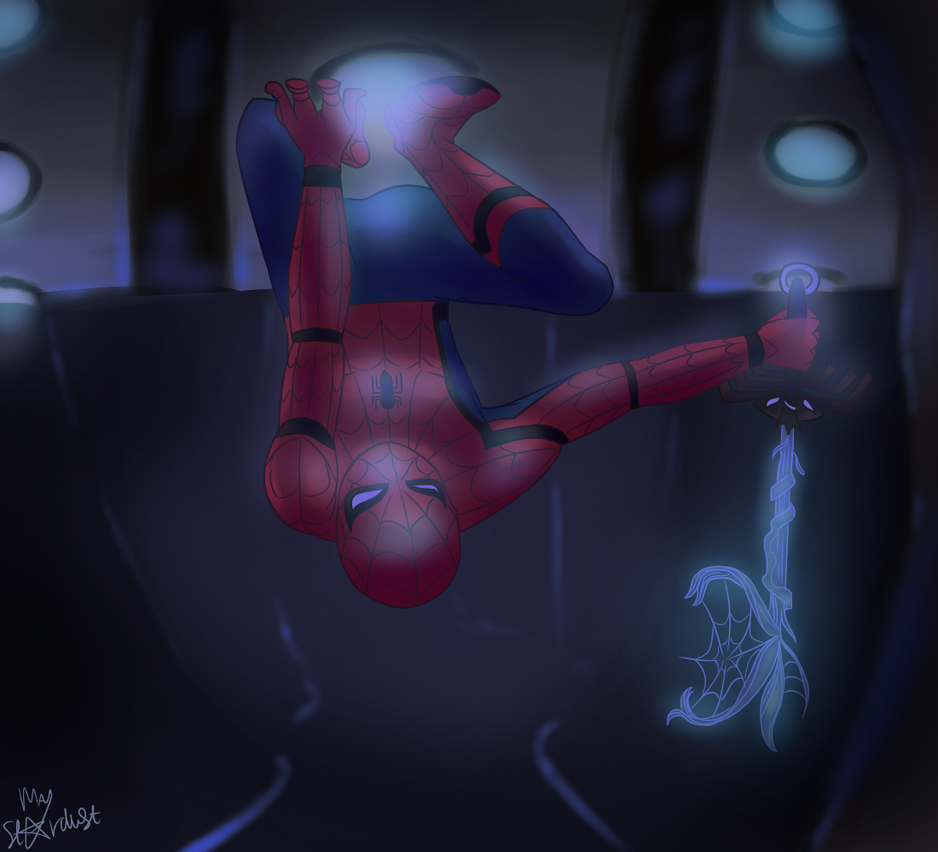 Spider-man in space by MayStardust