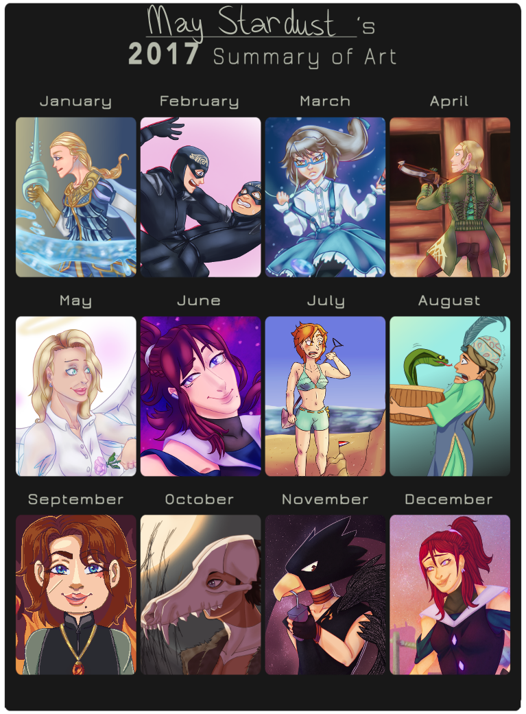 2017 Art Summary by MayStardust