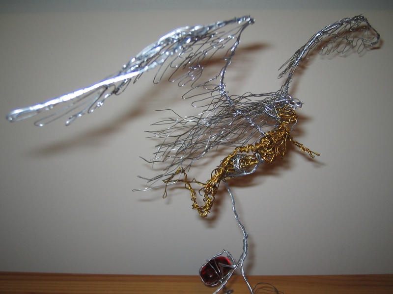 Wire Angel II From the Side by charraj