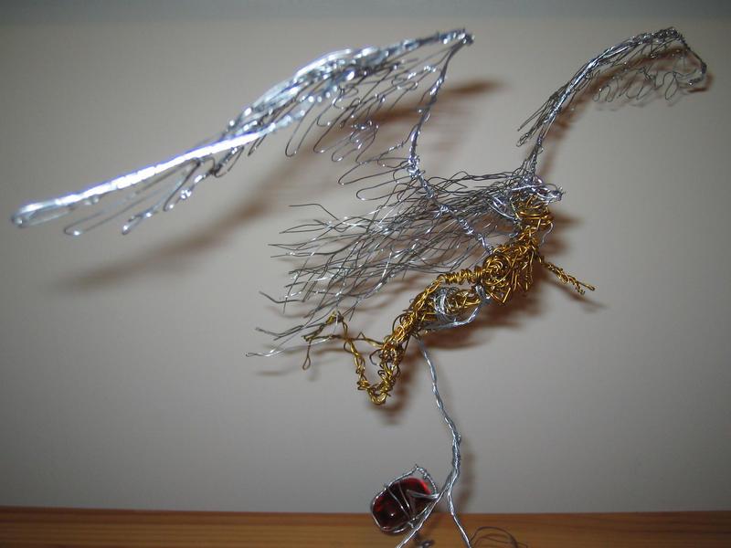 Wire Angel II From the Side by charraj