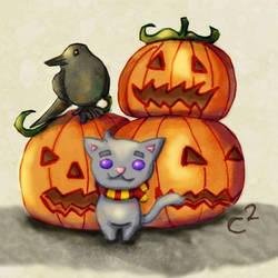 Halloween Kitty by Katchiannya