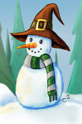 Snow Day in Hogwarts by Katchiannya