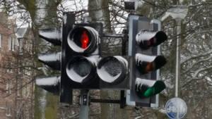 Traffic lights in Winter