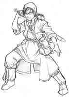 dragon quest 8 - hero by samuraiblack