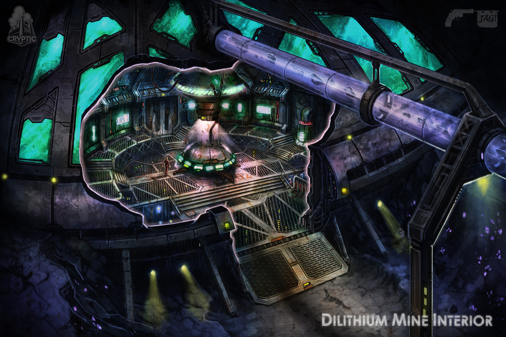 Startrekonline Dilithium Mine Interior Concept Art By Fbombheart On