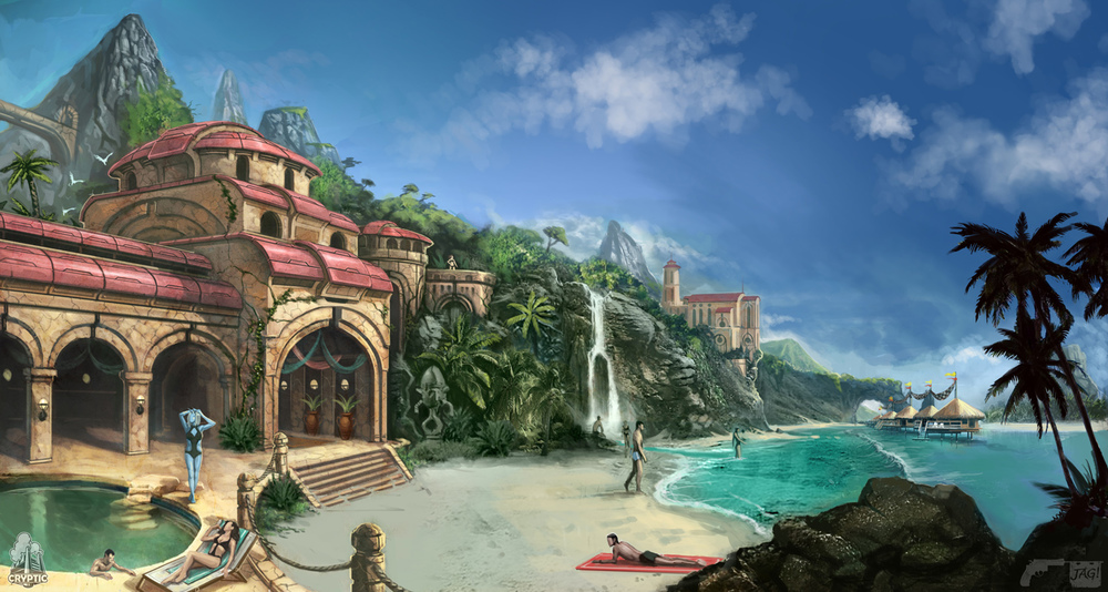 Star Trek Online Risa Beach Concept Art By Fbombheart On Deviantart