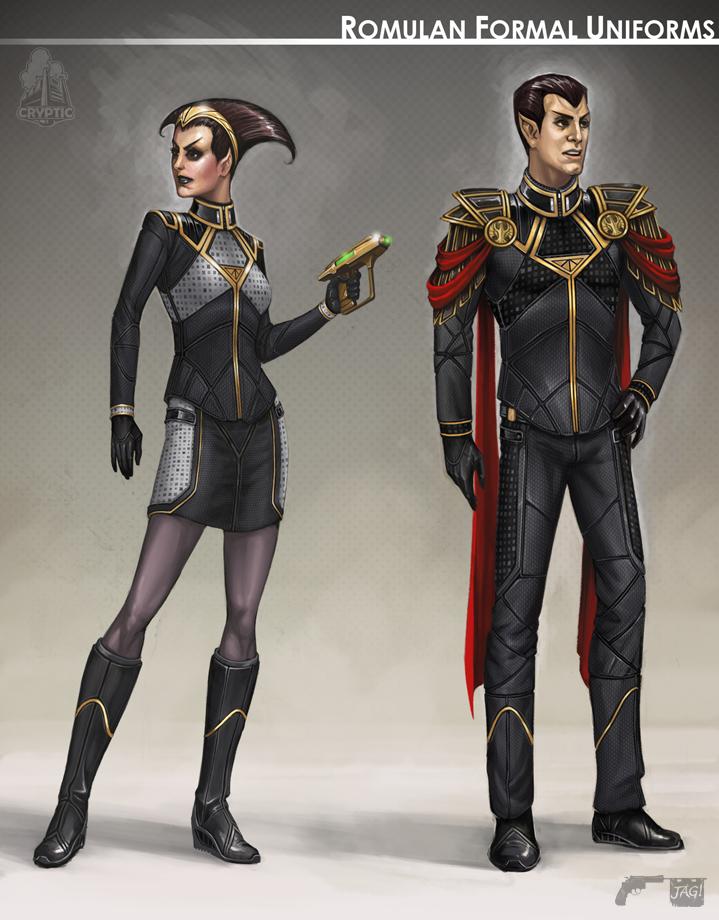 Star Trek Online Romulan Formal Concept Art by FBOMBheart ...
