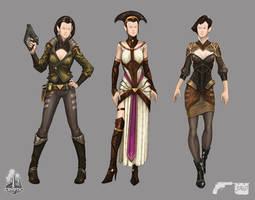 Star Trek Online Romulan Clothes Concept Art by FBOMBheart