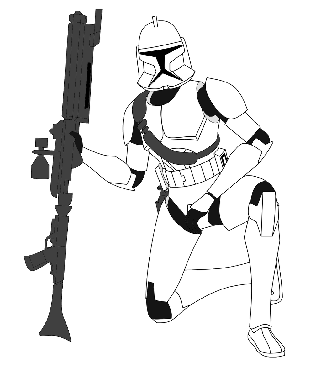 clone trooper with strap and dc 15a by fbombheart on deviantart