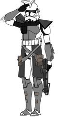 Phase 2 Arc Trooper Saluting