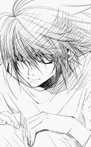 Death note L by midnightstalkerr
