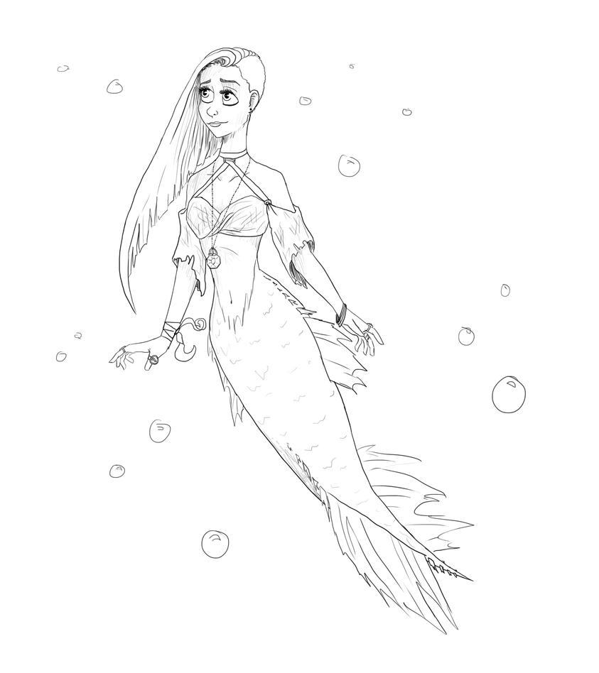 Hannah mermaid  by stormthief19