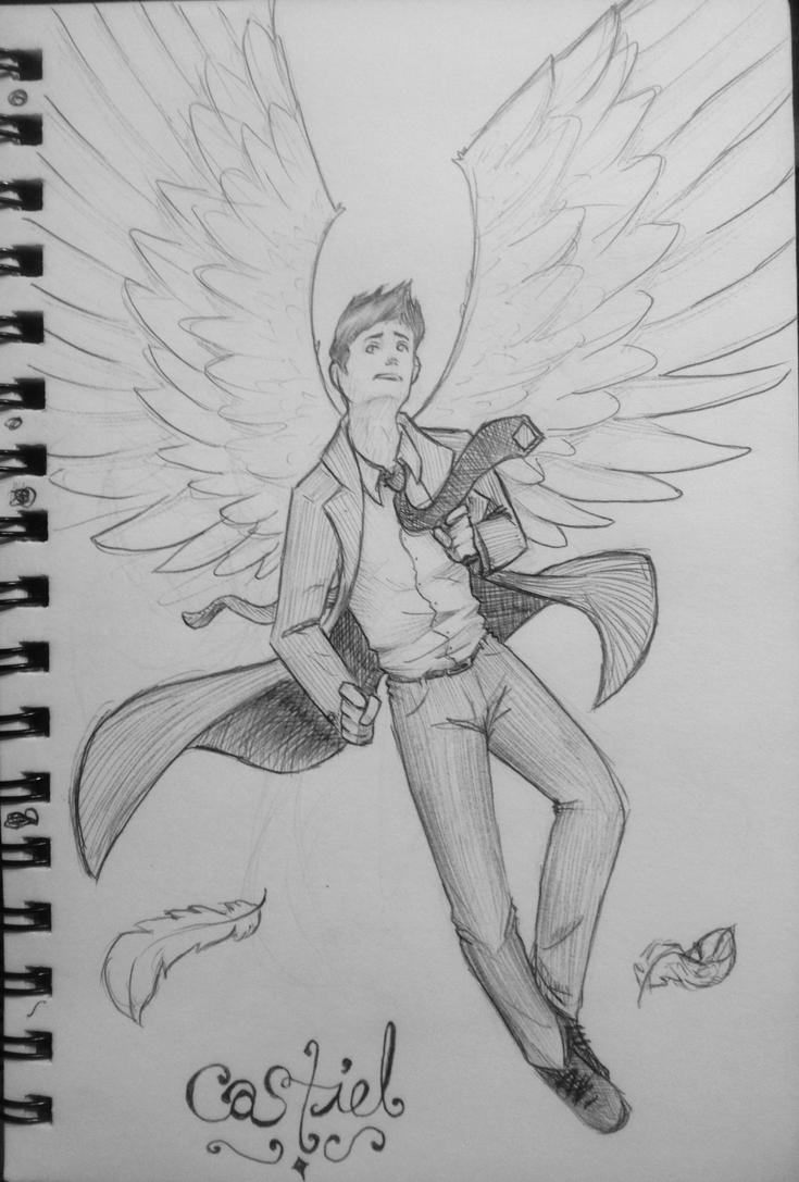 Castiel the Angel  by stormthief19
