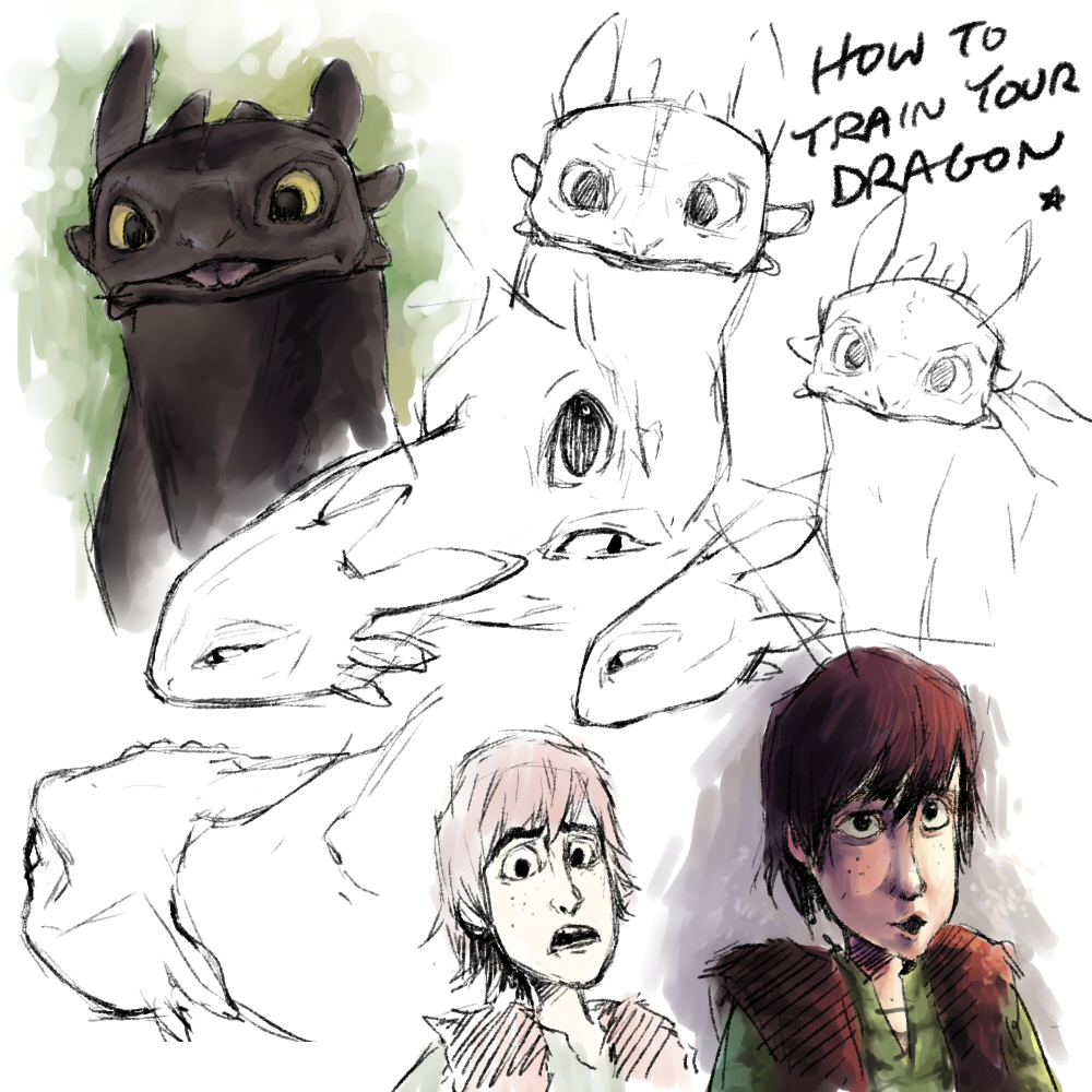 HTTYD doodles by Aka-Shiro