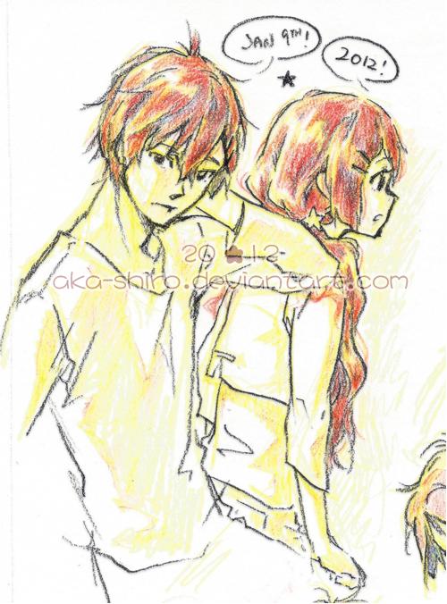 Shion and Shino by Aka-Shiro