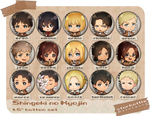 Shingeki no Kyojin Button Set