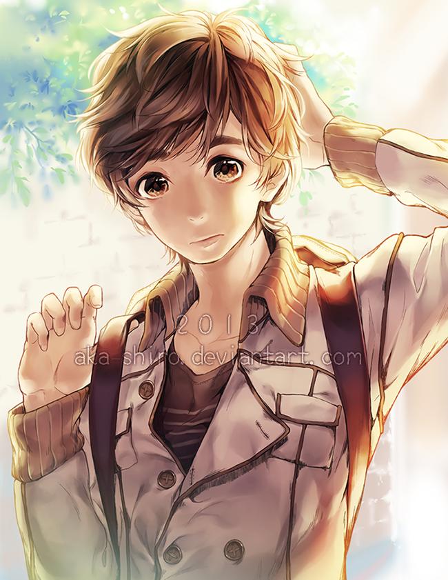 Backpack boy by Aka-Shiro