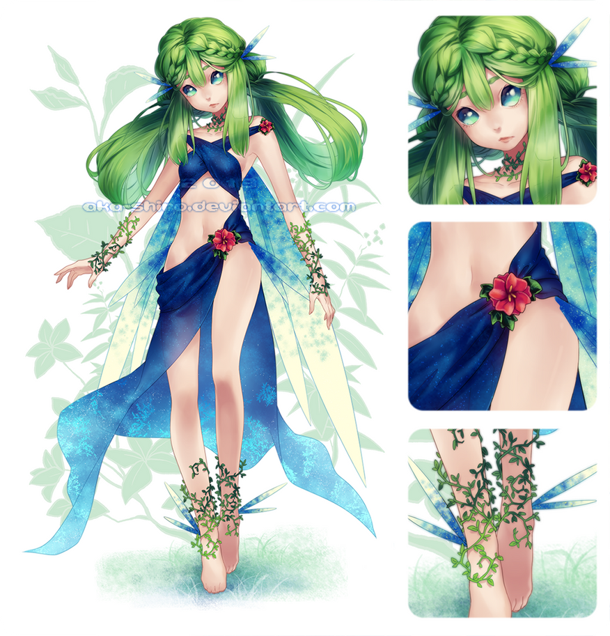 Plant Nymph [Adoptable Auction Closed] by Aka-Shiro