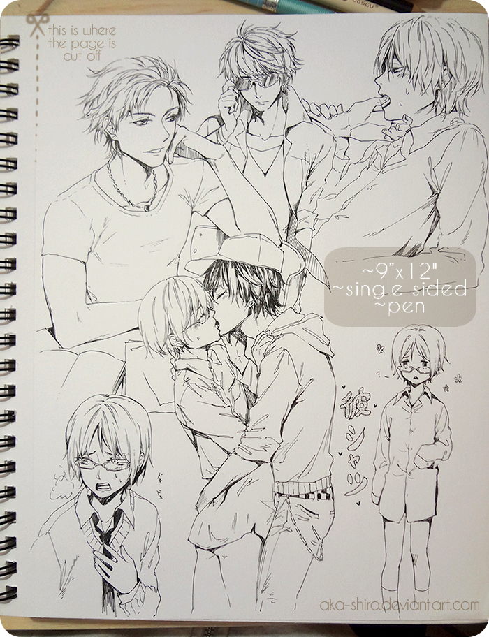 Sketchbook Page 6 [BL, auction closed] by Aka-Shiro