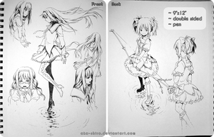 Sketchbook Page 7 [Madoka, auction closed]