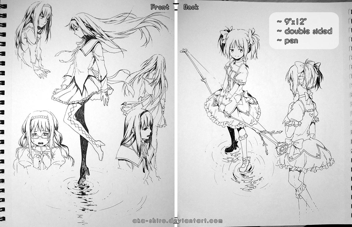 Sketchbook Page 7 [Madoka, auction closed] by Aka-Shiro
