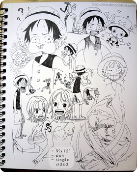 Sketchbook Page 8 [One Piece]