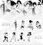 Original Hip-Hop Girls Postcard Set of 8