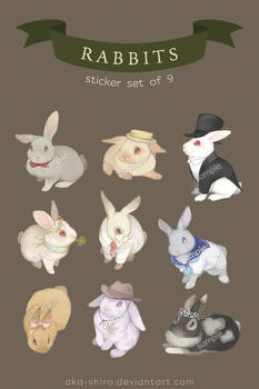 [Original Sticker Set] Rabbits