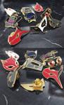 Persona5 Masks Enamel Pins