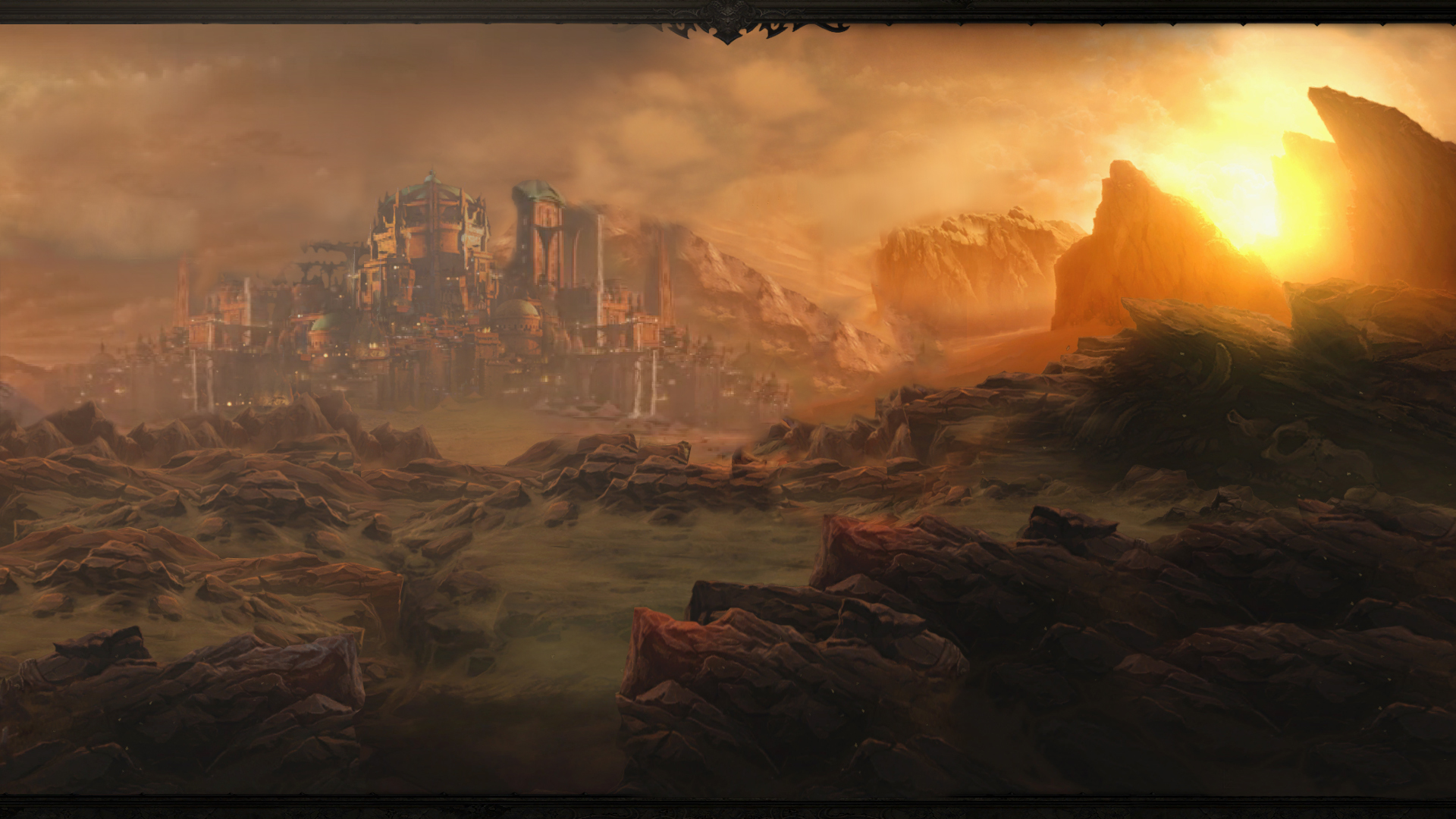 Diablo 3 Act 2 Wallpaper by Arixev