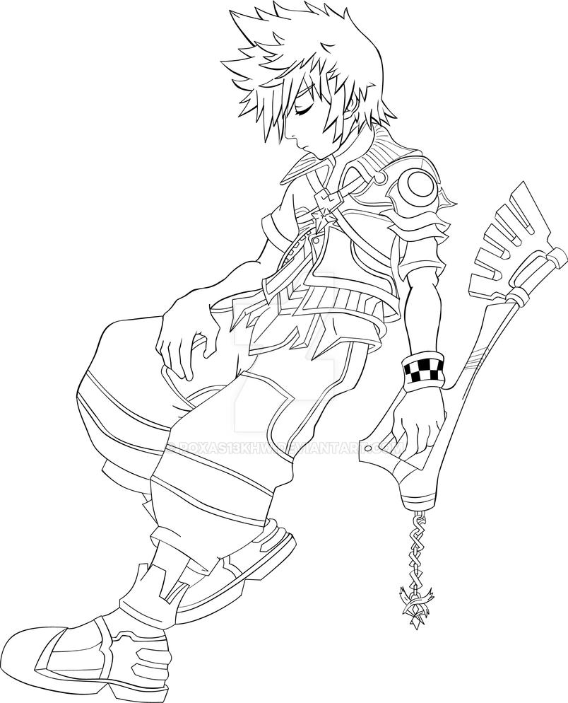 Sora Kingdom Hearts Lineart : Ventus ultimate lineart by roxas khw on deviantart