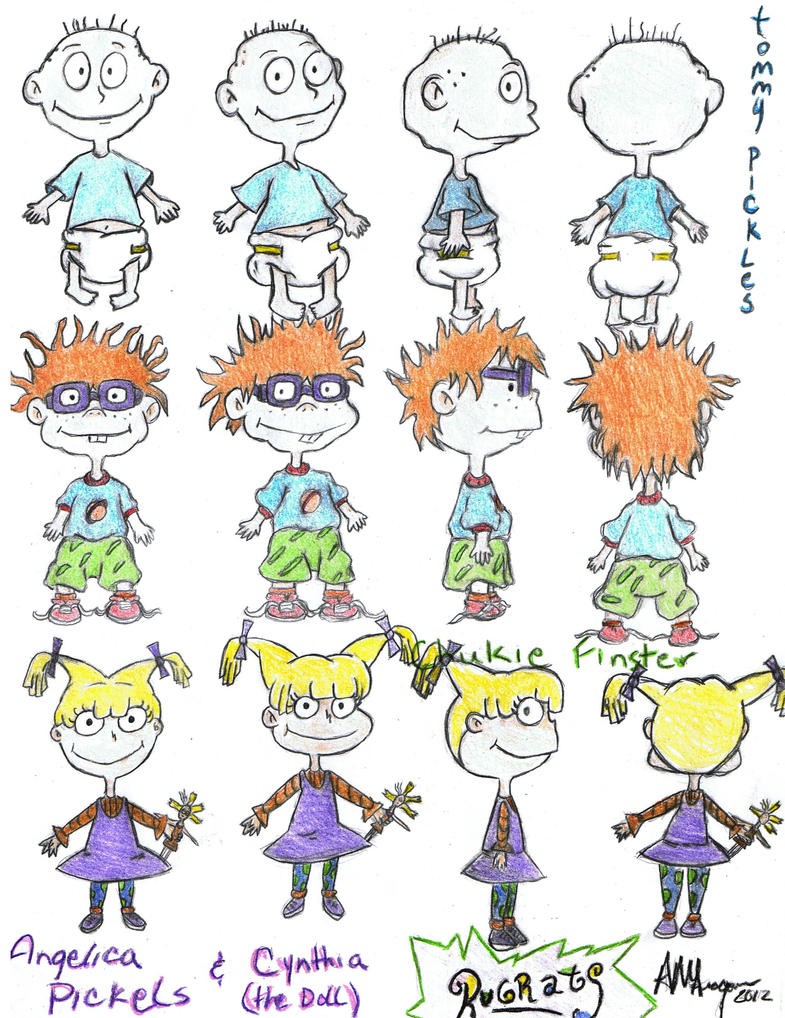 rugrats: tommy, chuckie, angelica by a-aragon123 on DeviantArt