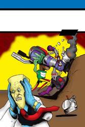 Bud #2 Unlettered variant cover Superman Parody by Gary-ODD-Edmund