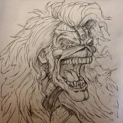 Eddie from Iron Maiden sketch by Gary-ODD-Edmund