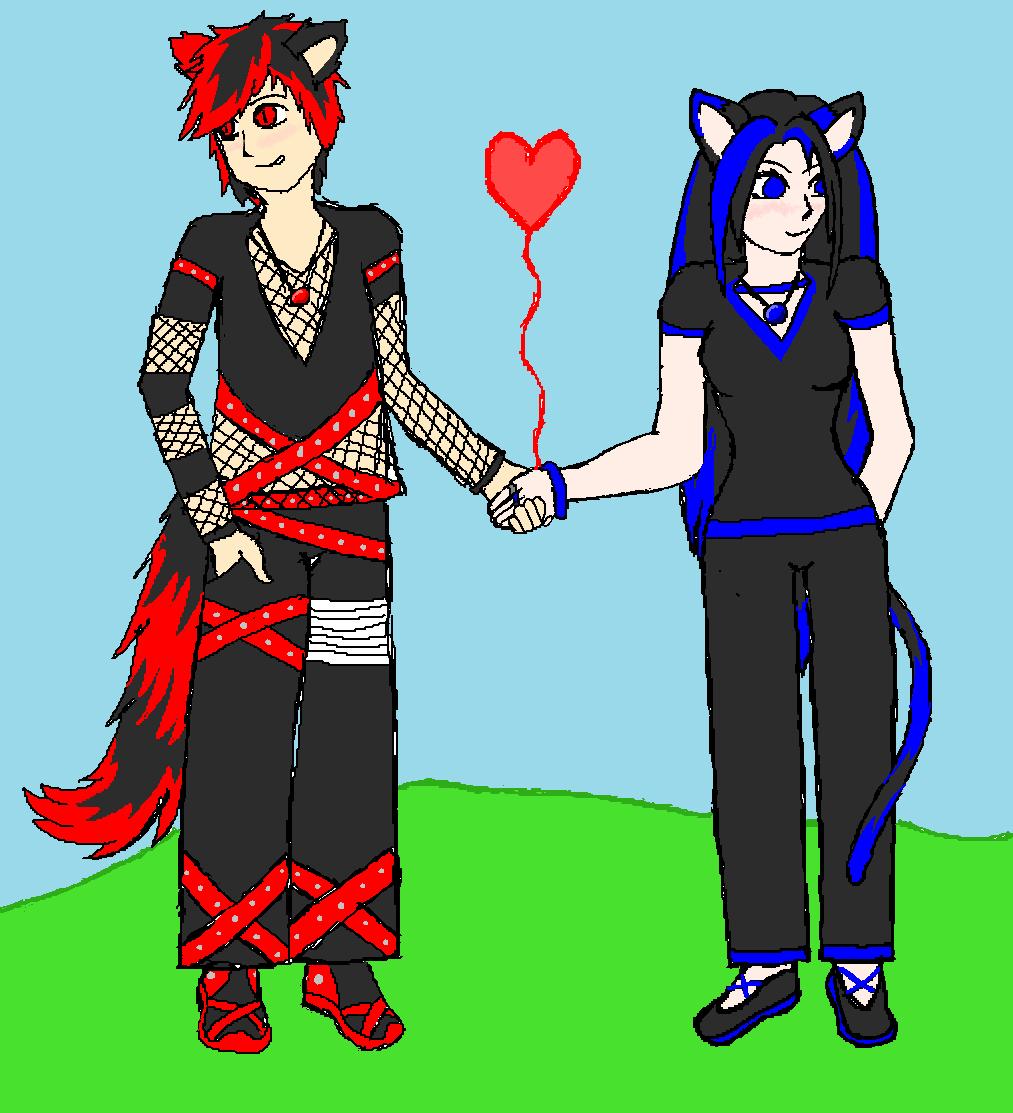 Xairian and Xuna. by YakasukiX