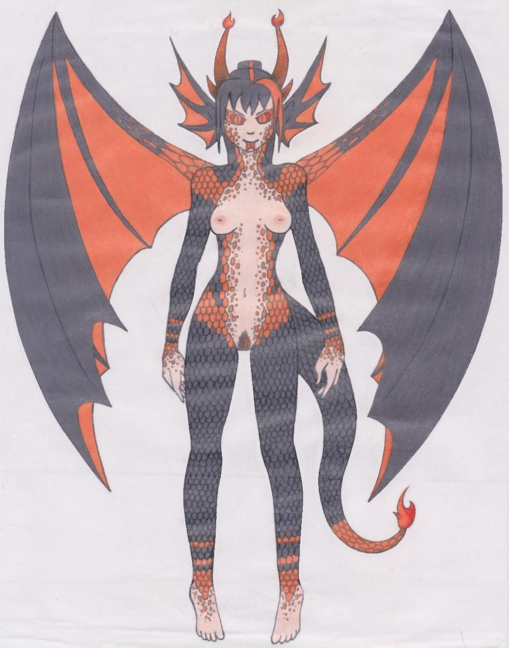 Flair's Dragon Form. by YakasukiX