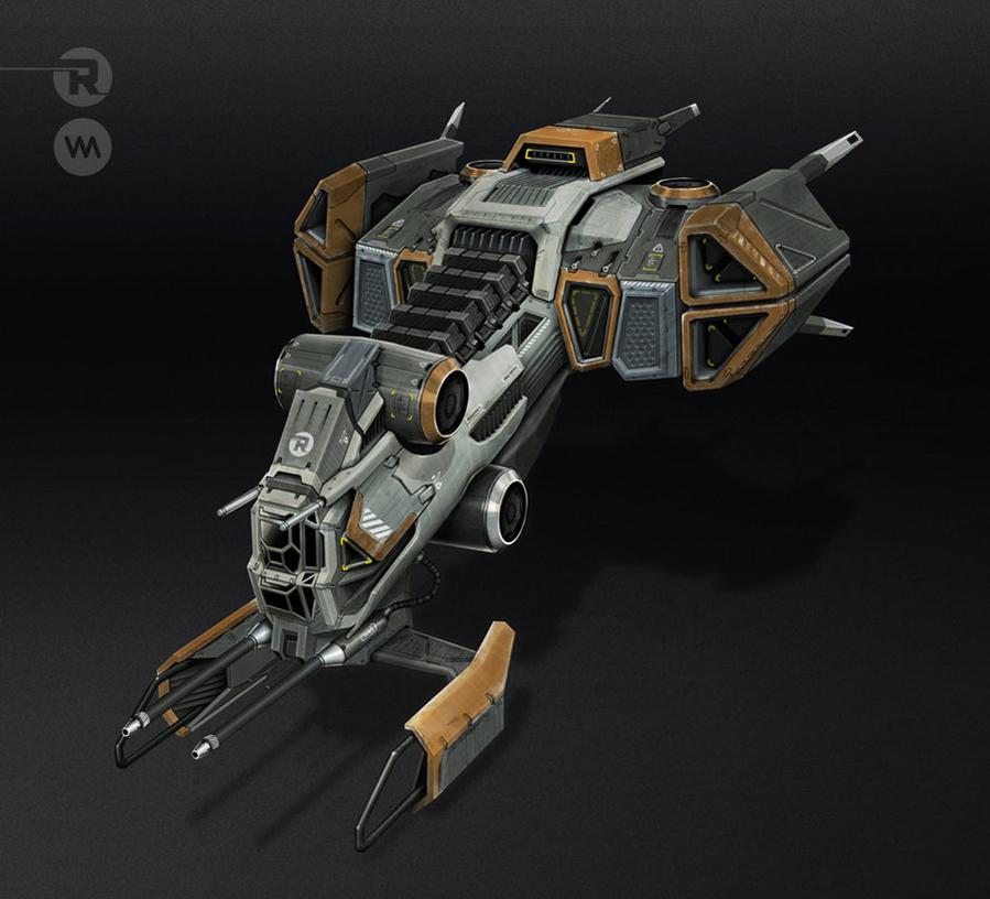 ROBUS Industries - Heavy Gunship by IllOO