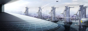 HORIZON - Airport Towers by IllOO