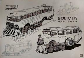 Bolivia Bustrain Sketch by IllOO