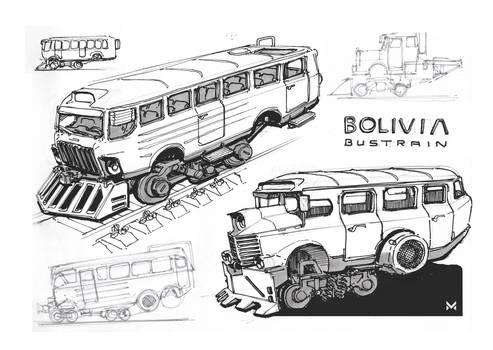 Bolivia Bustrain Sketch
