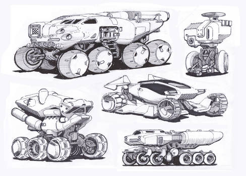 5 Vehicle Sketches