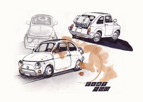 Fiat 500 sketches