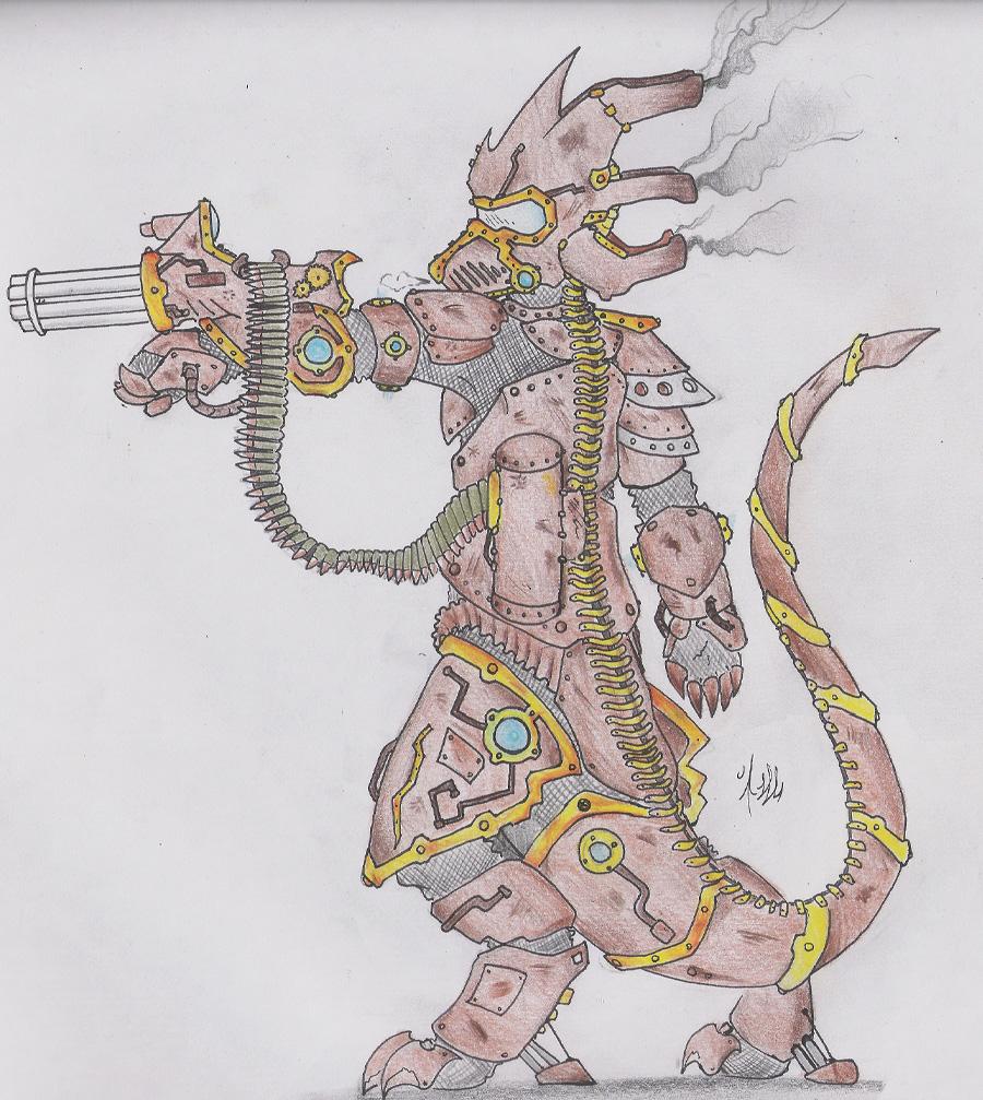 Dragon Clothing ~ Hydra Armor (SteamPunk) by Dragon-Wish