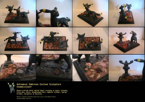 Autumnal Umbreon Custom Sculpture Commission!
