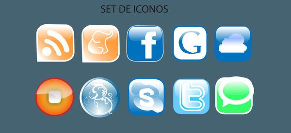 Iconos sociales by mramila