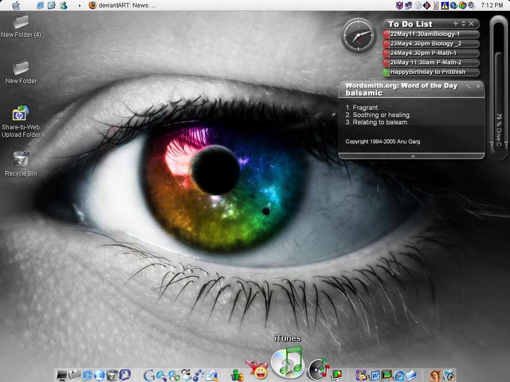 my desktop by pritthish