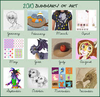 2010 Summary of Art by Albino-Phoenix